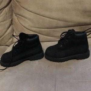 Toddler black timberland boots